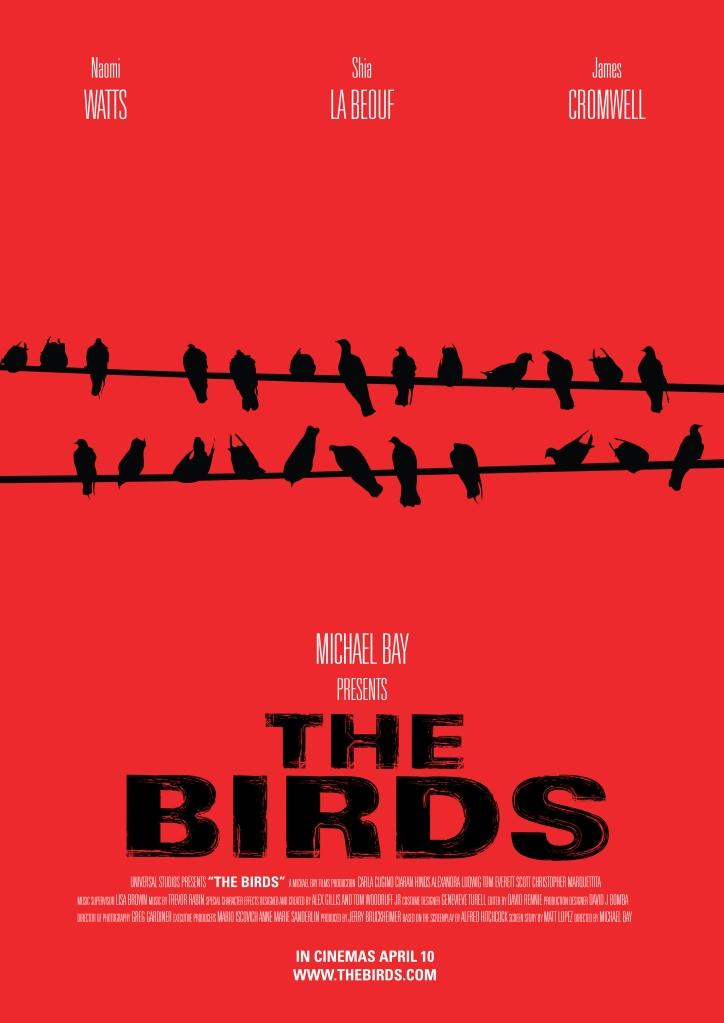 Póster alternativo de 'Los Pájaros'